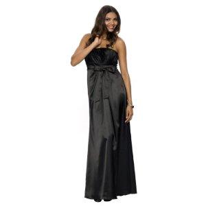 Corsagen Kleid mit schwarzer Zierschleife