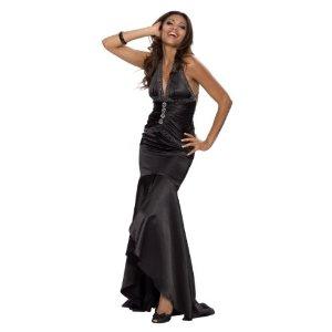 Elegantes langes schwarzes Abendkleid